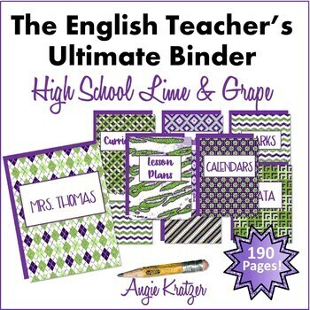 The English Teacher's Ultimate Binder {High School Lime & Grape}