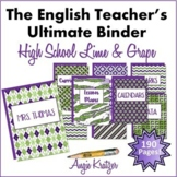 The English Teacher's Ultimate Binder {High School Lime & Grape}