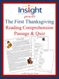 The First Thanksgiving Reading Comprehension Passage and Q
