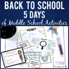 Back to School ~ First Week Of Middle School Lesson Plans