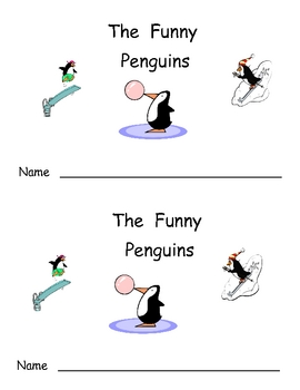 The Funny Penguins- Winter Kindergarten Emergent Reader book