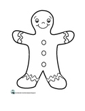 The Gingerbread Man Shape Book and Template