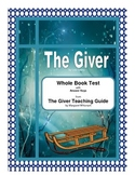 Giver     Whole Book Test
