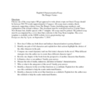 The Hunger Games: Characterization Essay Topics