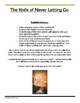 The Knife of Never Letting Go-Chapter Response Worksheets-