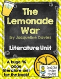 """The Lemonade War"", by J. Davies, Literature Unit, 96 Tota"