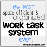 The MOST Space Efficient & Organized Work Task System for