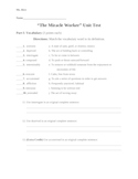 """The Miracle Worker"" Unit Test"