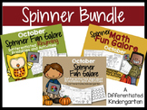 The October Spinner Bundle-Math, Letter/Sounds and Rhyming