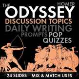 The Odyssey, Discussion Starters, Pop Quizzes, Writing Tas