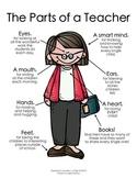 The Parts of a Teacher  {Melonheadz Clipart Version}