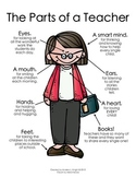The Parts of a Teacher  {Melonheadz Clipart Version}