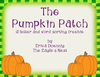 The Pumpkin Patch--a letter and word sort freebie