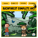 The Rainforest Unit Print-n-Go: A Complete Nonfiction Reso