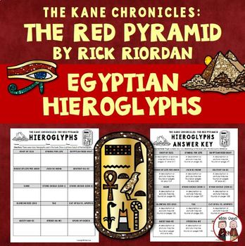 The Red Pyramid Egyptian Hieroglyphs Worksheet Activity