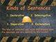The Sentence PowerPoint Presentation