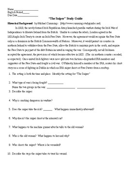 The Sniper Study Guide and KEY