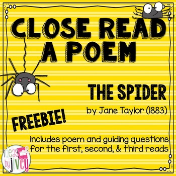 Close Read A Poem Freebie with Ideas by Jivey.