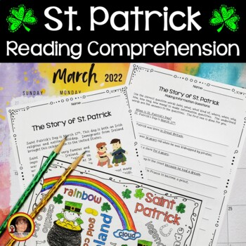 St. Patrick's Day Reading/ Vocabulary/ Sequencing/ WH Questions/ Scrambled Words