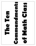 The Ten Commandments of Math Class Posters
