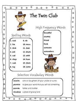 The Twin Club Scott Foresman Common Core 2013 Reading Grade 2