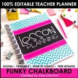 Editable Teacher Binder: Funky Chalkboard Theme {FREE UPDATES}