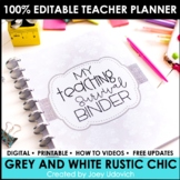 The ULTIMATE Teaching Survival Binder: Grey and White Chev