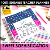 Editable Teacher Binder: Sweet Sophistication Theme {FREE