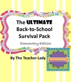 The Ultimate Back to School Pack - Elementary Edition
