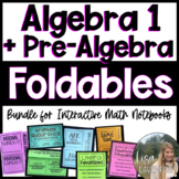 The Ultimate Foldable Bundle for 8th Grade Math & Algebra 1!!!