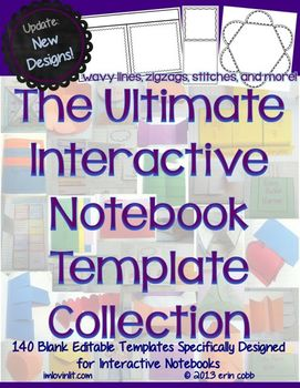 The Ultimate Interactive Notebook Template Collection (Blank Editable Templates)