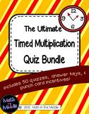 Timed Multiplication Quiz Bundle