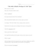 """""""The Wife of Bath's Prologue and Tale"""" Quiz"""