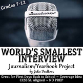 Yearbook Class Back to School Activity: The World's Smalle