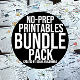 Thematic No-Prep Practice {BUNDLE PACK}