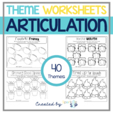 Thematic Open Ended Articulation Worksheets-Home Practice