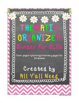 Thematic Organizer Binder for SLPs