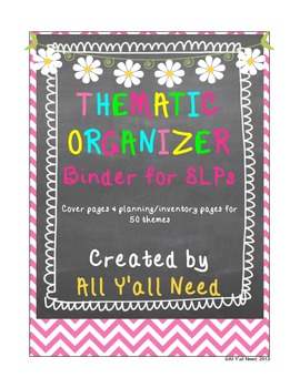 Thematic Organizer Binder for SLPs