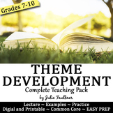 Theme Development Across A Text Complete Teaching Pack, Any Text