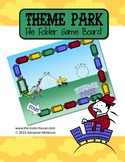 Theme Park Customizable File Folder Game Board