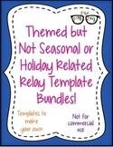 Themed NON Seasonal/Holiday Relay template BUNDLE ALL 13!