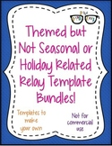 Themed NON Seasonal/Holiday Relay template BUNDLE ALL 13!