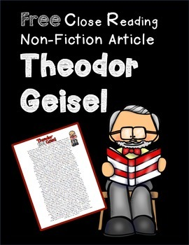 Theodor Geisel Close Reading Passage FREE