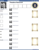Theodore Teddy Roosevelt Presidential Fakebook Template