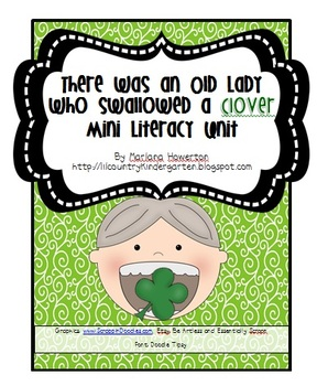 There Was an Old Lady Who Swallowed a Clover Mini Literacy Unit
