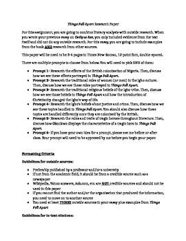 Things Fall Apart Essays | GradeSaver