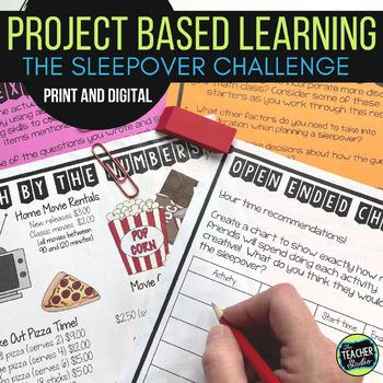 Thinker Tasks:  A Sleepover Math Project Grades 3-5