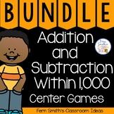 Third Grade Center Games and Printables Bundle Rounding &