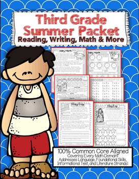 Third Grade Common Core: Summer Packet {Review Reading, Math, Writing, & More}