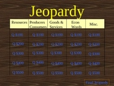 Third Grade Economics Jeopardy Game